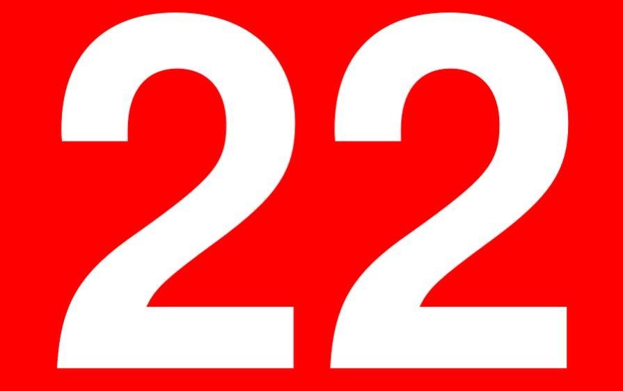 Significado do número 22: Numerologia vinte e dois