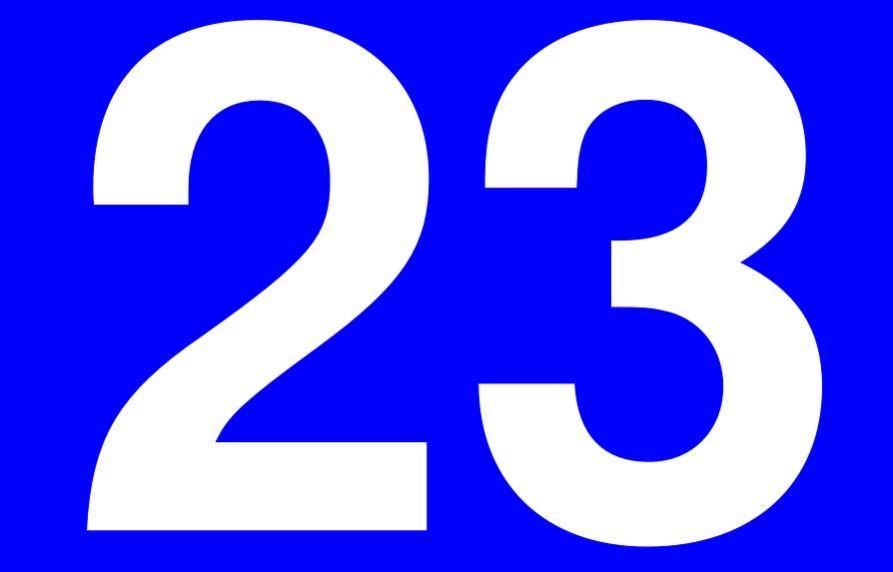 Significado do número 23: Numerologia Vinte e três