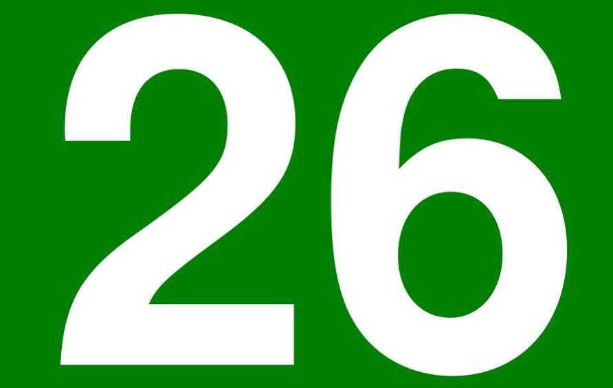 Significado do número 26: Numerologia Vinte e seis