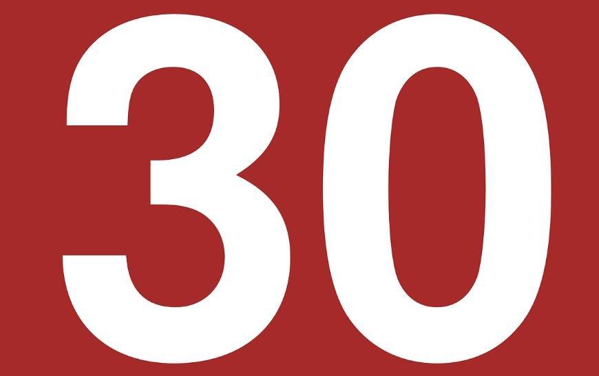 Significado do número 30: Numerologia trinta