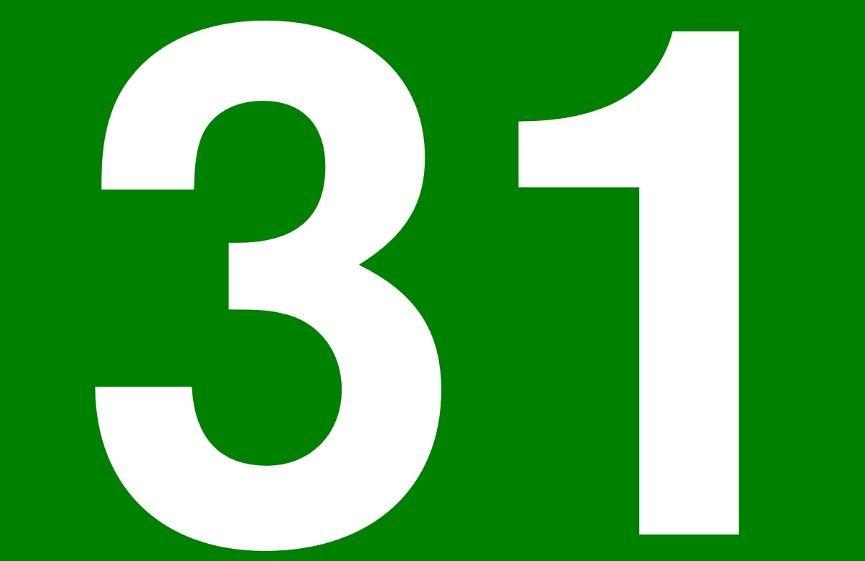 Significado do número 31: Numerologia trinta e um