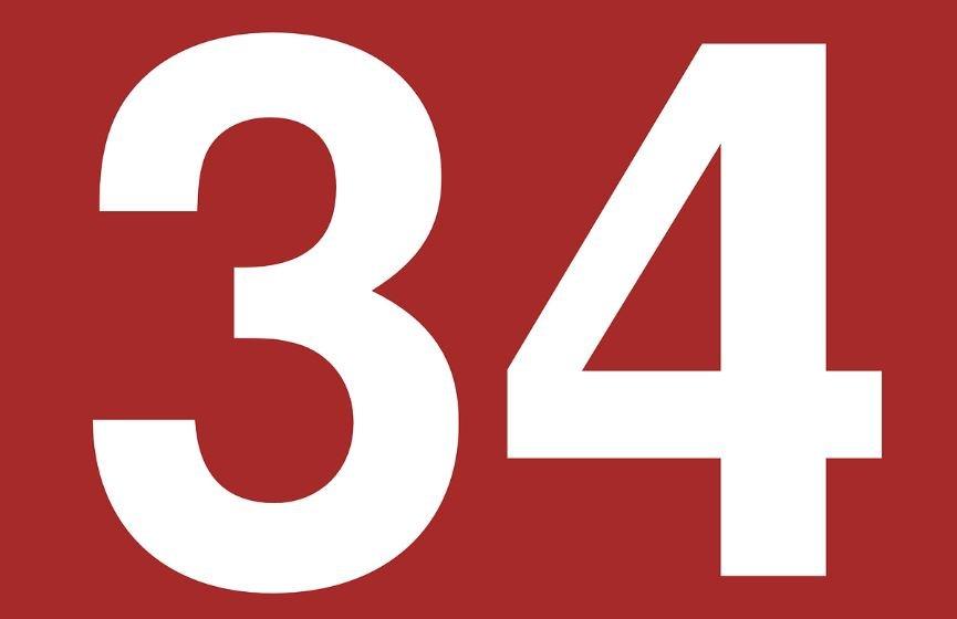 Significado do número 34: Numerologia Trinta e quatro