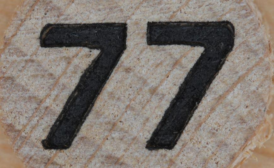 Significado do número 77: Numerologia Setenta e sete