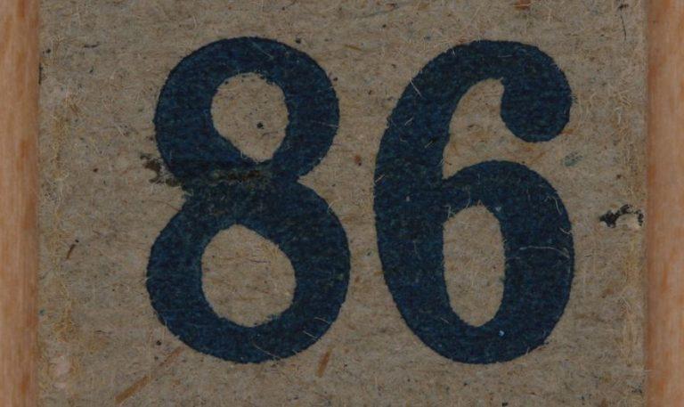 Significado do número 86: Numerologia Oitenta e seis