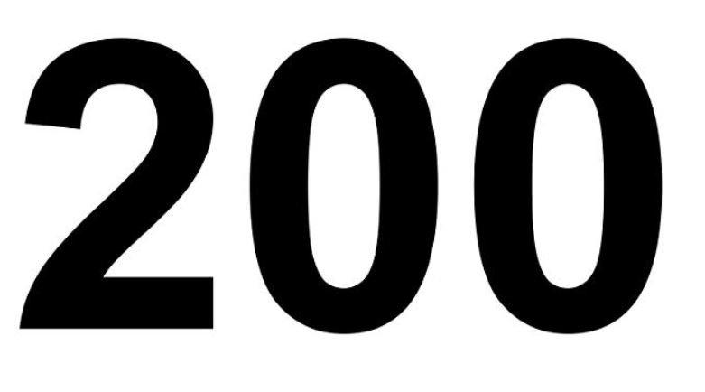 Significado do número 200: Numerologia Duzentos