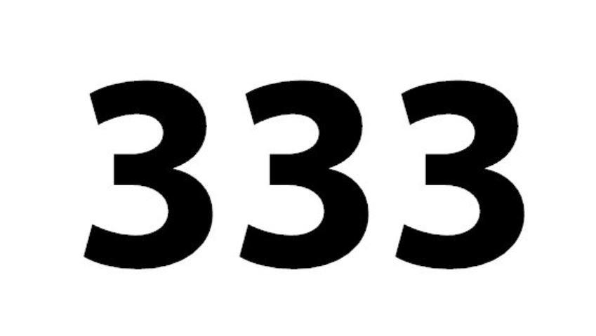 Significado do número 333: Numerologia Trezentos e trinta e três