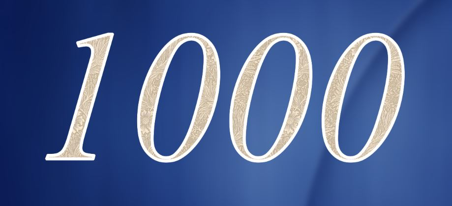 Significado do número 1000: Numerologia Mil