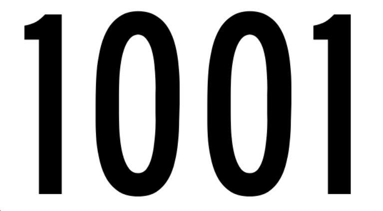 Significado do número 1001: Numerologia mil e um