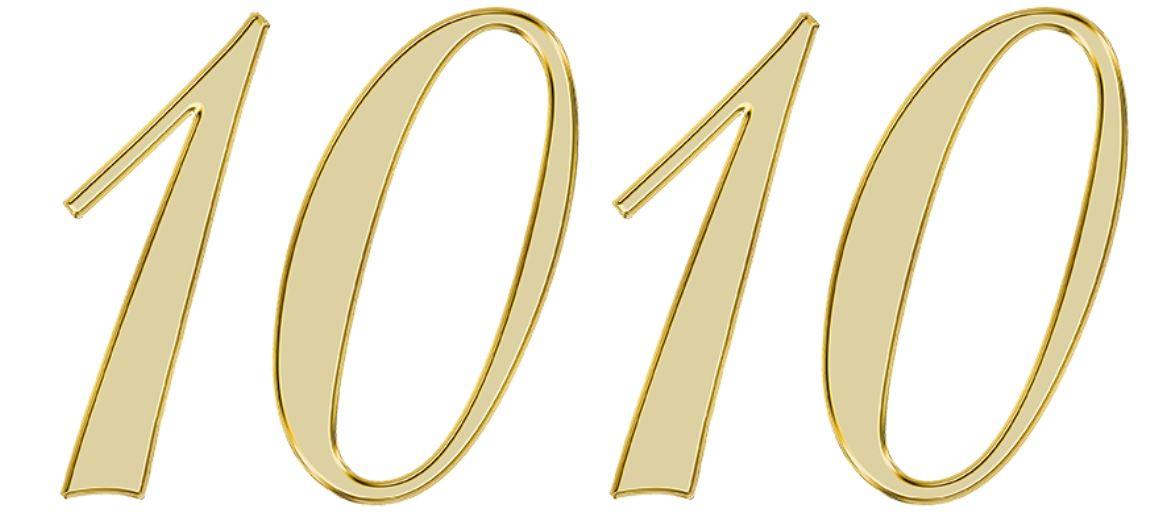 Significado do número 1010: Numerologia mil e dez