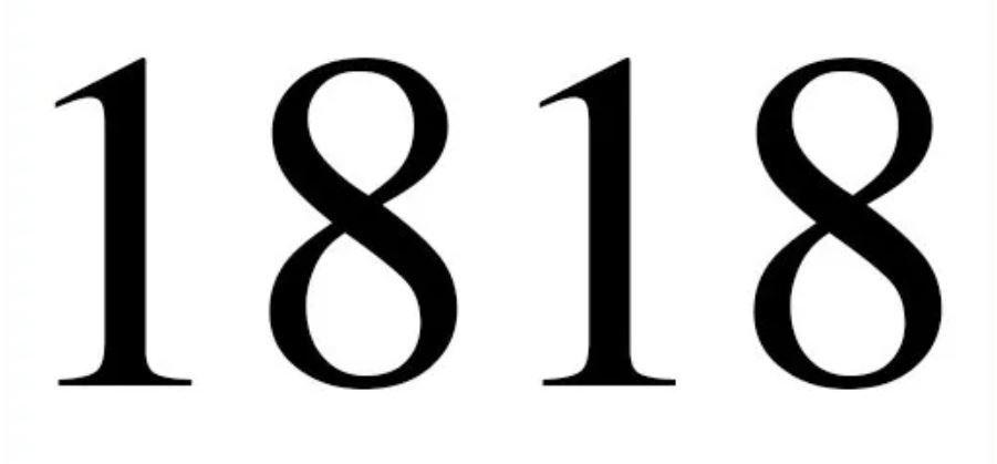Significado do número 1818: Numerologia mil oitocentos e dezoito