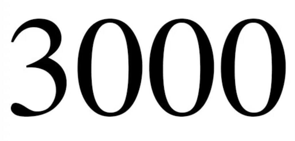 Significado do número 3000: Numerologia Três mil