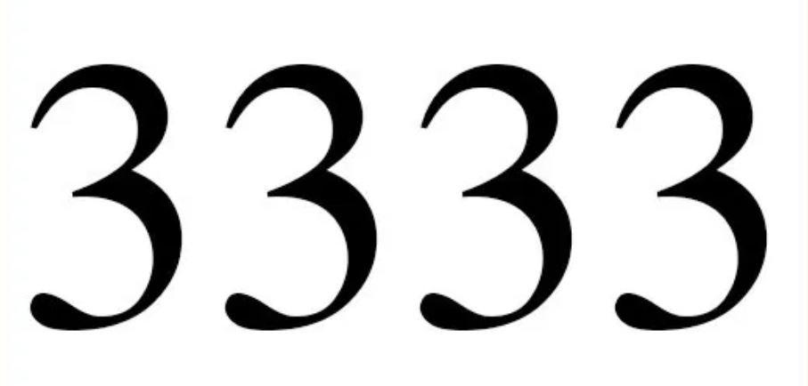 Significado do número 3333: Numerologia três mil trezentos e trinta e três