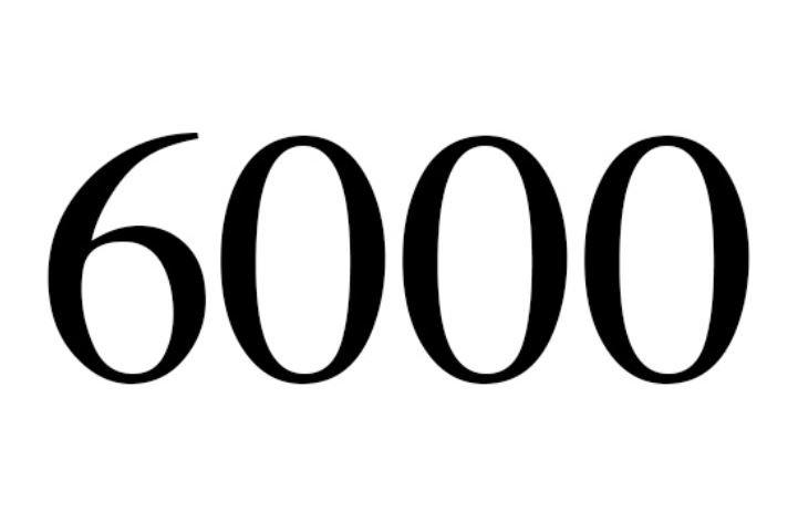 Significado do número 6000: Numerologia seis mil