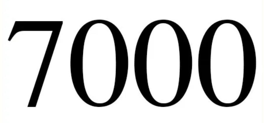 Significado do número 7000: Numerologia sete mil
