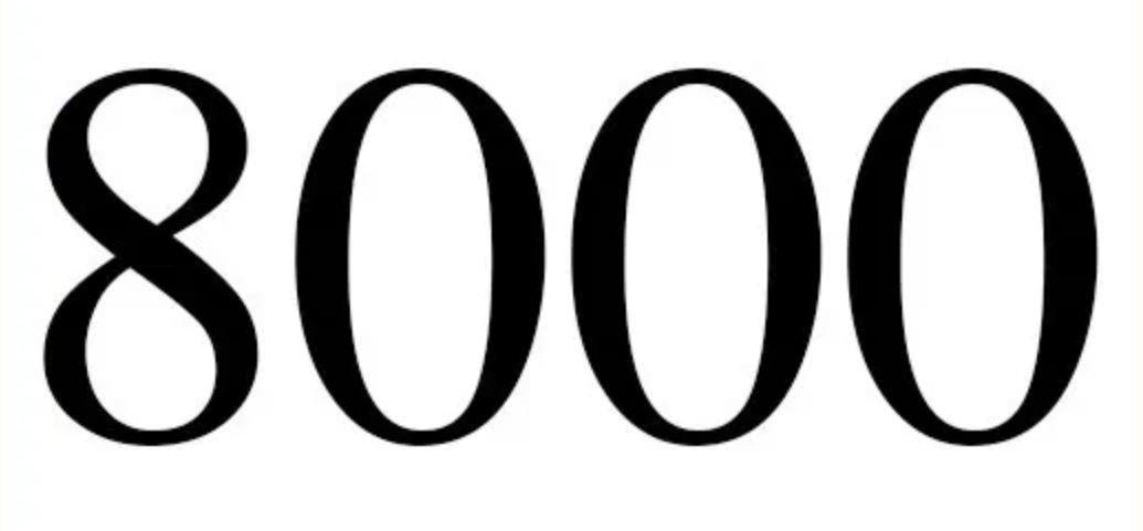 Significado do número 8000: Numerologia oito mil