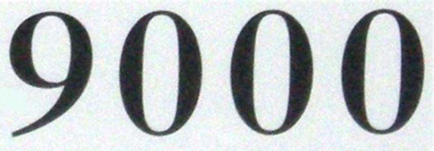Significado do número 9000: Numerologia nove mil