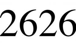 Significado do número 2626: Numerologia Dois mil seiscentos e vinte e seis