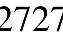 Significado do número 2727: Numerologia Dois mil setecentos e vinte e sete