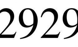 Significado do número 2929: Numerologia Dois mil novecentos e vinte e nove
