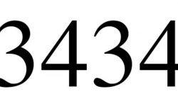 Significado do número 3434: Numerologia Três mil quatrocentos e trinta e quatro
