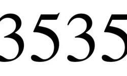Significado do número 3535: Numerologia Três mil quinhentos e trinta e cinco