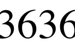 Significado do número 3636: Numerologia Três mil seiscentos e trinta e seis