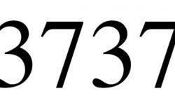 Significado do número 3737: Numerologia Três mil setecentos e trinta e sete