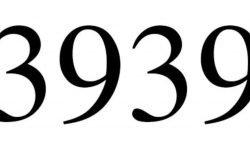 Significado do número 3939: Numerologia Três mil novecentos e trinta e nove