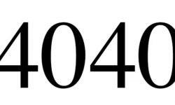 Significado do número 4040: Numerologia Quatro mil e quarenta