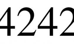 Significado do número 4242: Numerologia Quatro mil duzentos e quarenta e dois
