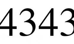 Significado do número 4343: Numerologia Quatro mil trezentos e quarenta e três