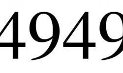 Significado do número 4949: Numerologia Quatro mil novecentos e quarenta e nove