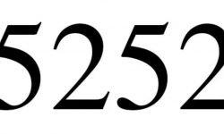 Significado do número 5252: Numerologia Cinco mil duzentos e cinquenta e dois