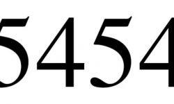 Significado do número 5454: Numerologia Cinco mil quatrocentos e cinquenta e quatro