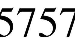 Significado do número 5757: Numerologia Cinco mil setecentos e cinquenta e sete