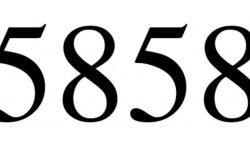 Significado do número 5858: Numerologia Cinco mil oitocentos e cinquenta e oito