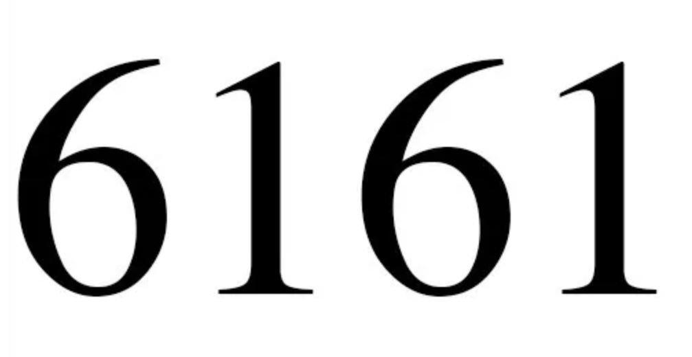 Significado do número 6161