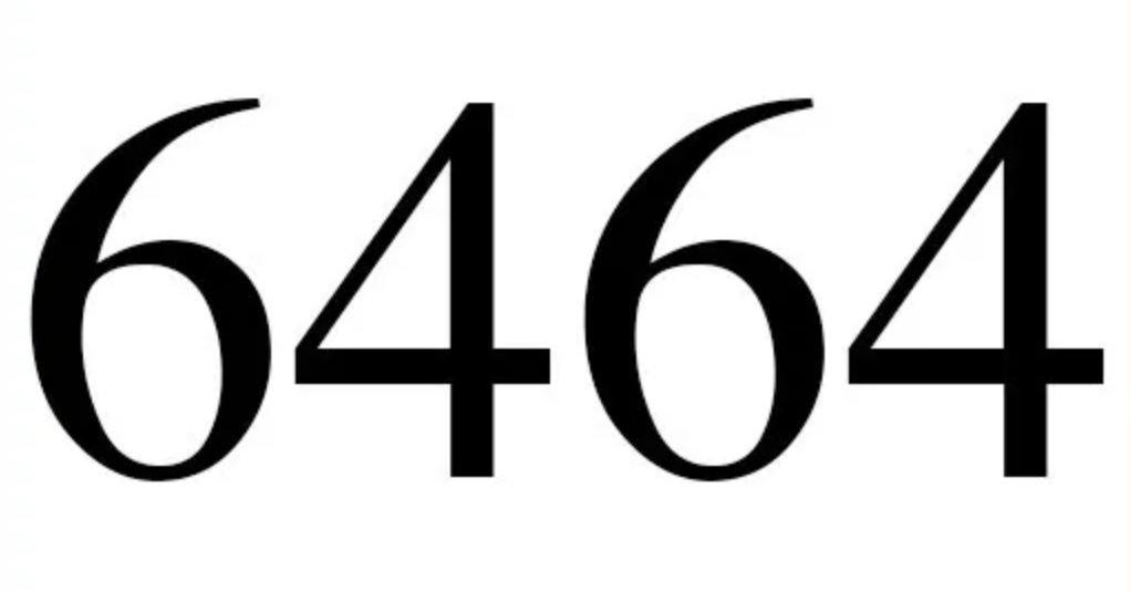 Significado do número 6464