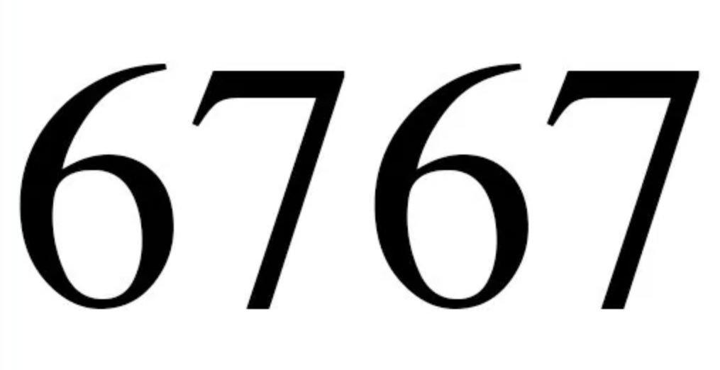 Significado do número 6767