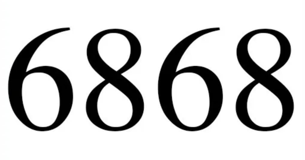 Significado do número 6868