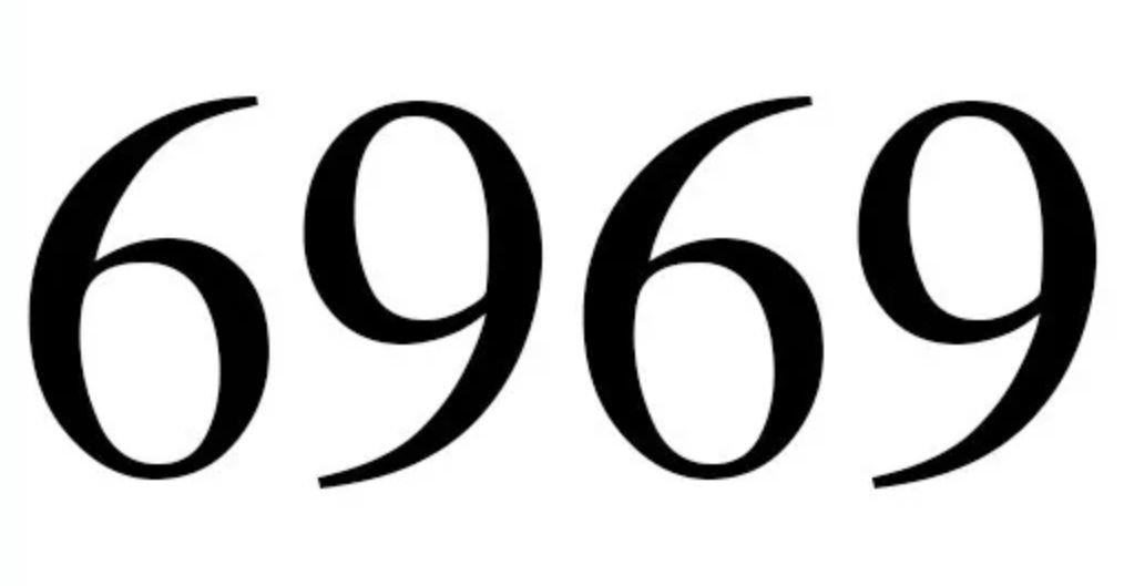 Significado do número 6969