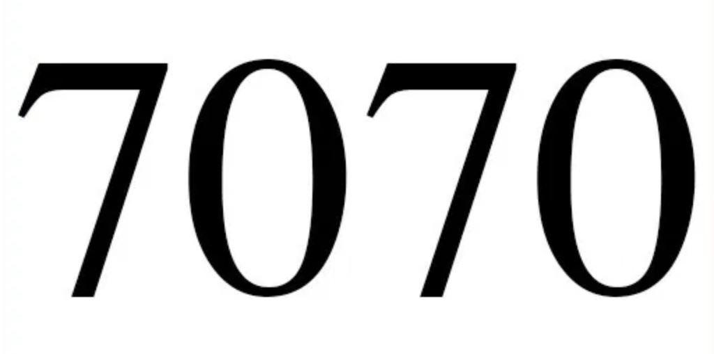 Significado do número 7070