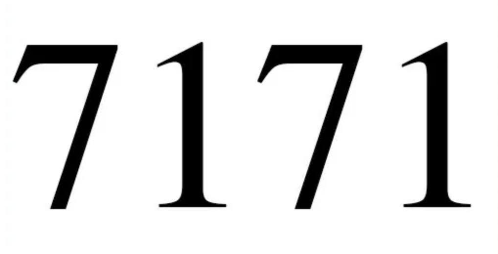 Significado do número 7171