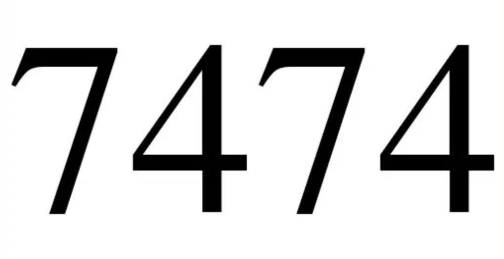 Significado do número 7474