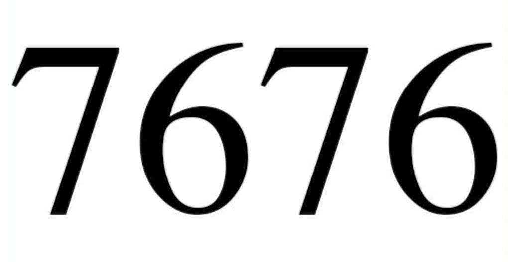Significado do número 7676
