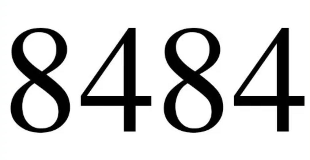 Significado do número 8484