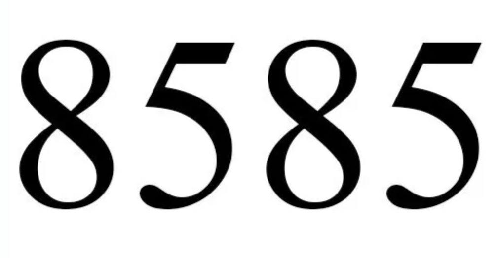 Significado do número 8585