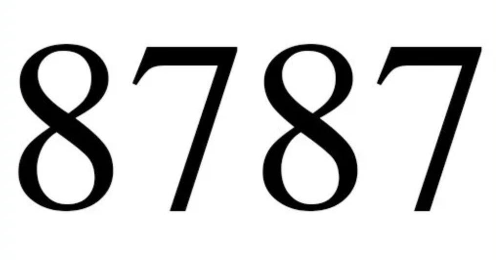 Significado do número 8787