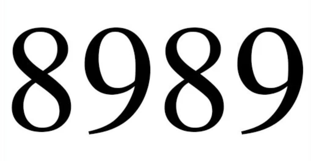 Significado do número 8989