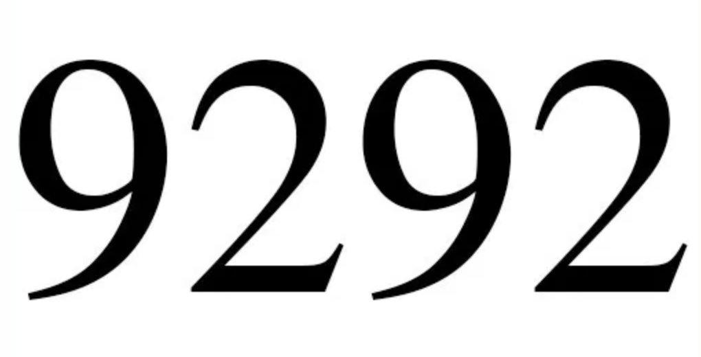 Significado do número 9292